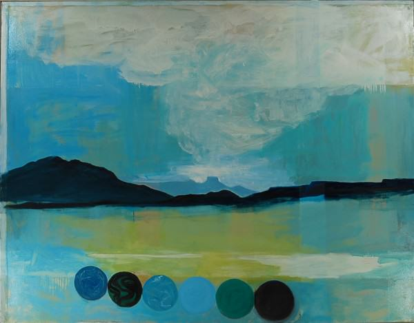 Larry Shineman   VIEW FROM SPARKS BOWLING BALL GARDEN   54 x 72   oil on canvas   2008