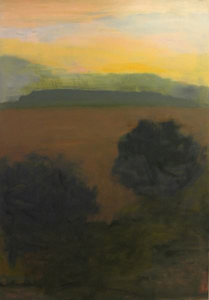Larry Shineman | TWO TREES AND MESA | 60 x 40 | oil on canvas | 2009