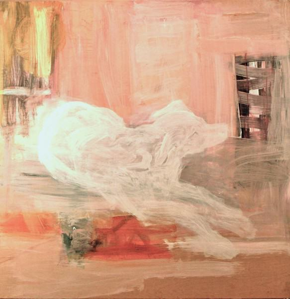 Larry Shineman | APPARITION–TIA | 4' x4' |acrylic on panel | 2011