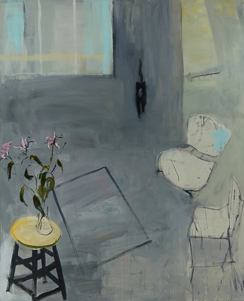 Larry Shineman | KITTY IN THE ROOM | 65 x 55 | oil on canvas | 2013