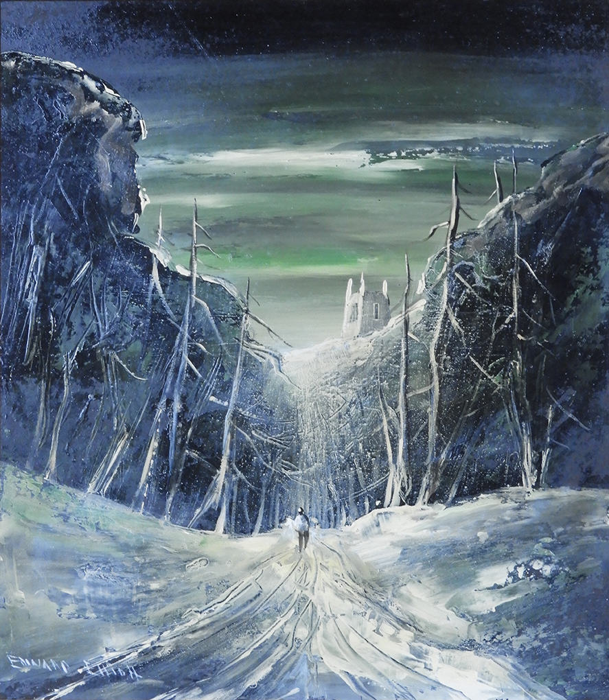 "1973.027 |  Edward Elliott | WINTER LANDSCAPE | oil on masonite panel | 25 x 21"" | undated | Unknown donor"