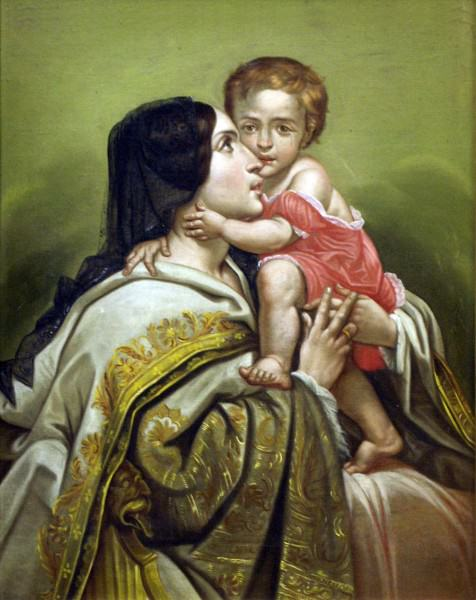 1975.008 Antonio Salas | MADONNA AND CHILD | oil on canvas | 25 x 19-3/4"
