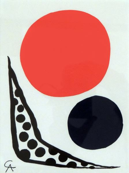 1977.038 | Alexander Calder |  COMPOSITION | color lithograph on paper | 9-3/4 x 7-1/4"
