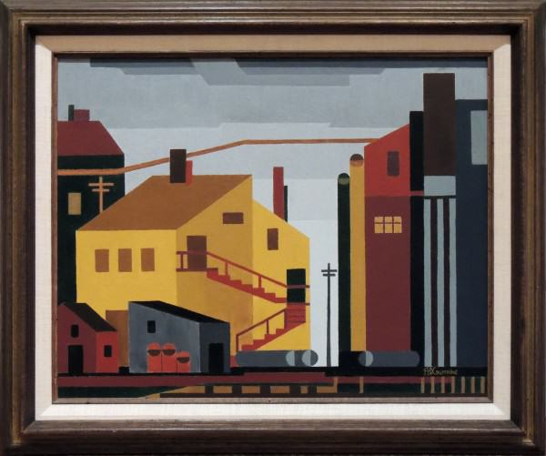1978.008 | Frances H. D. Crumrine | FACTORY SCENE, PROVINCETOWN, MA. | oil on canvas | 16 x 19-3/4"