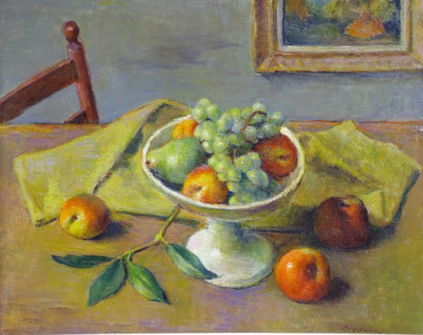 Robert Brackman | STILL LIFE WITH FRUIT | oil on canvas | 15-1/2 x 19-1/2"