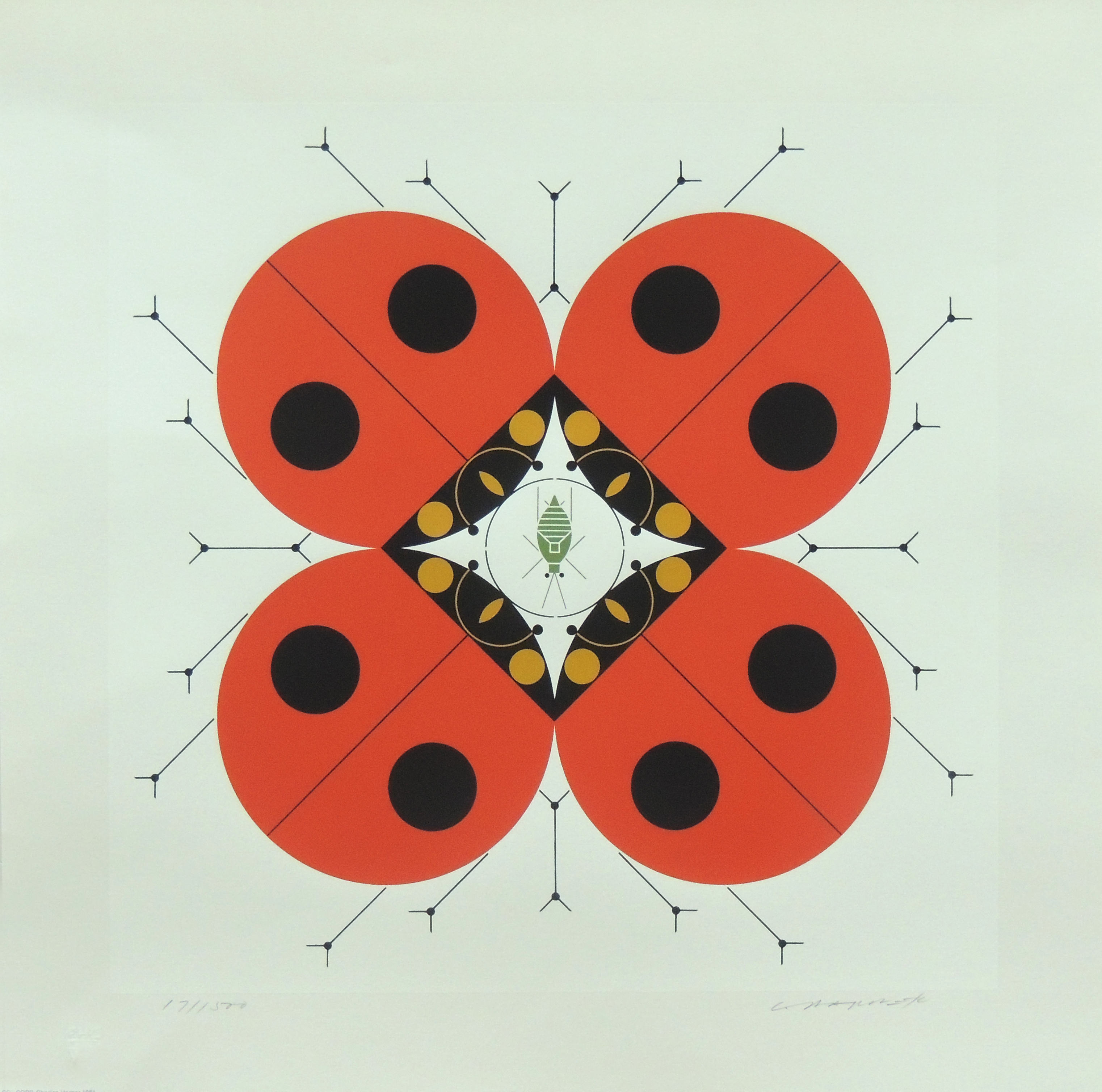 "1984.048 | Charles Harper | LAST APHID | serigraph on paper | 15-1/2 x 15-1/2"" | 1981 | Gift of Mr. Kenneth C. Tregilus"