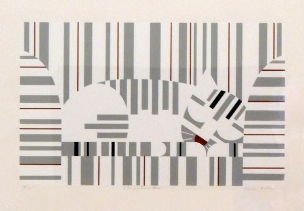 1984.090 | Edie Harper | SLEEPYTIMETOM | serigraph on paper | 13-7/8 x 20"