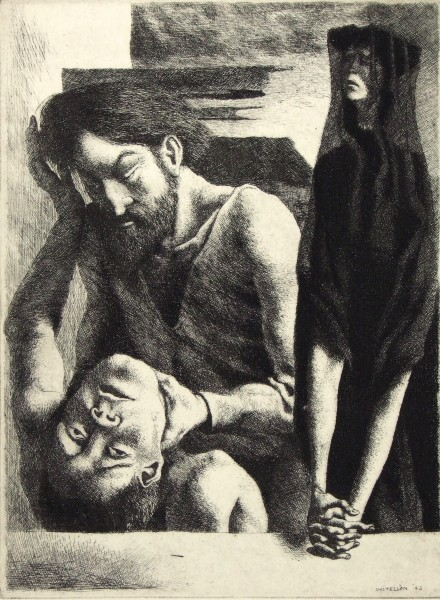 1985.023 | Federico Castellon | EVE'S SORROW | lithograph on paper | 8 x 5-7/8"