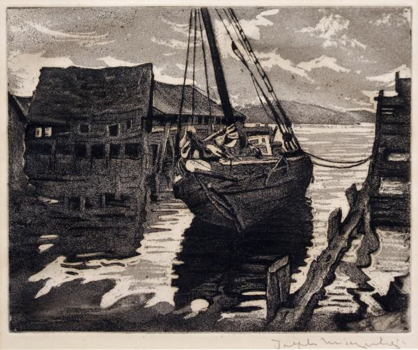 2005.005 | Joseph Margulies | ABANDONED | aquatint | 1945 | Donated by Ms. Susan Wayne and Miss Leslie Wayne Loftus