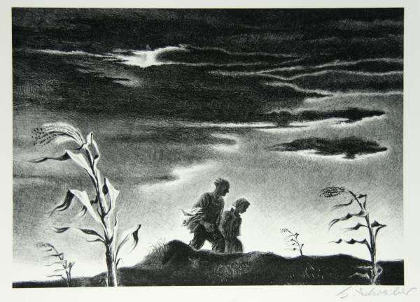 Georges Schreiber | TWILIGHT | lithograph | 9.875 x13.875"