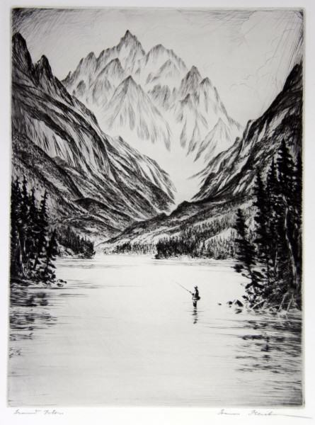1986.053 | Hans Kleiber | GRAND TETON | etching on paper | 11.875 x 8.75"