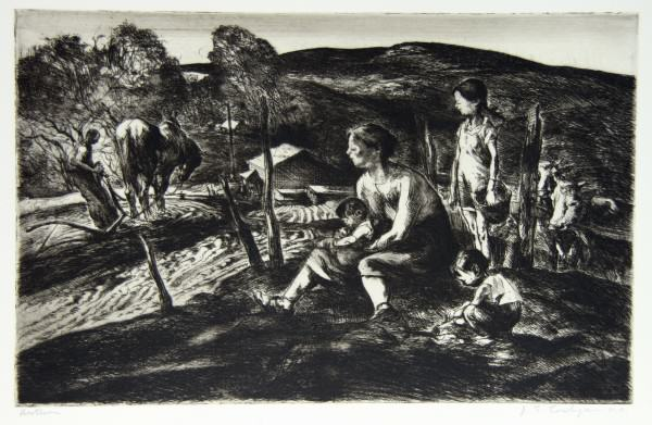 1986.059 | John E. Costigan | AUTUMN | etching on paper | 8.75 x 13.875"