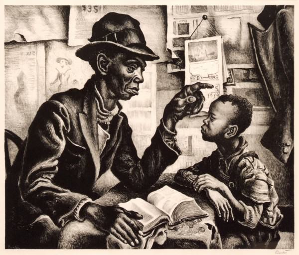 1986.061 | Thomas Hart Benton | PRODIGAL SON | lithograph on paper | 10-1/8 x 13-1/4"
