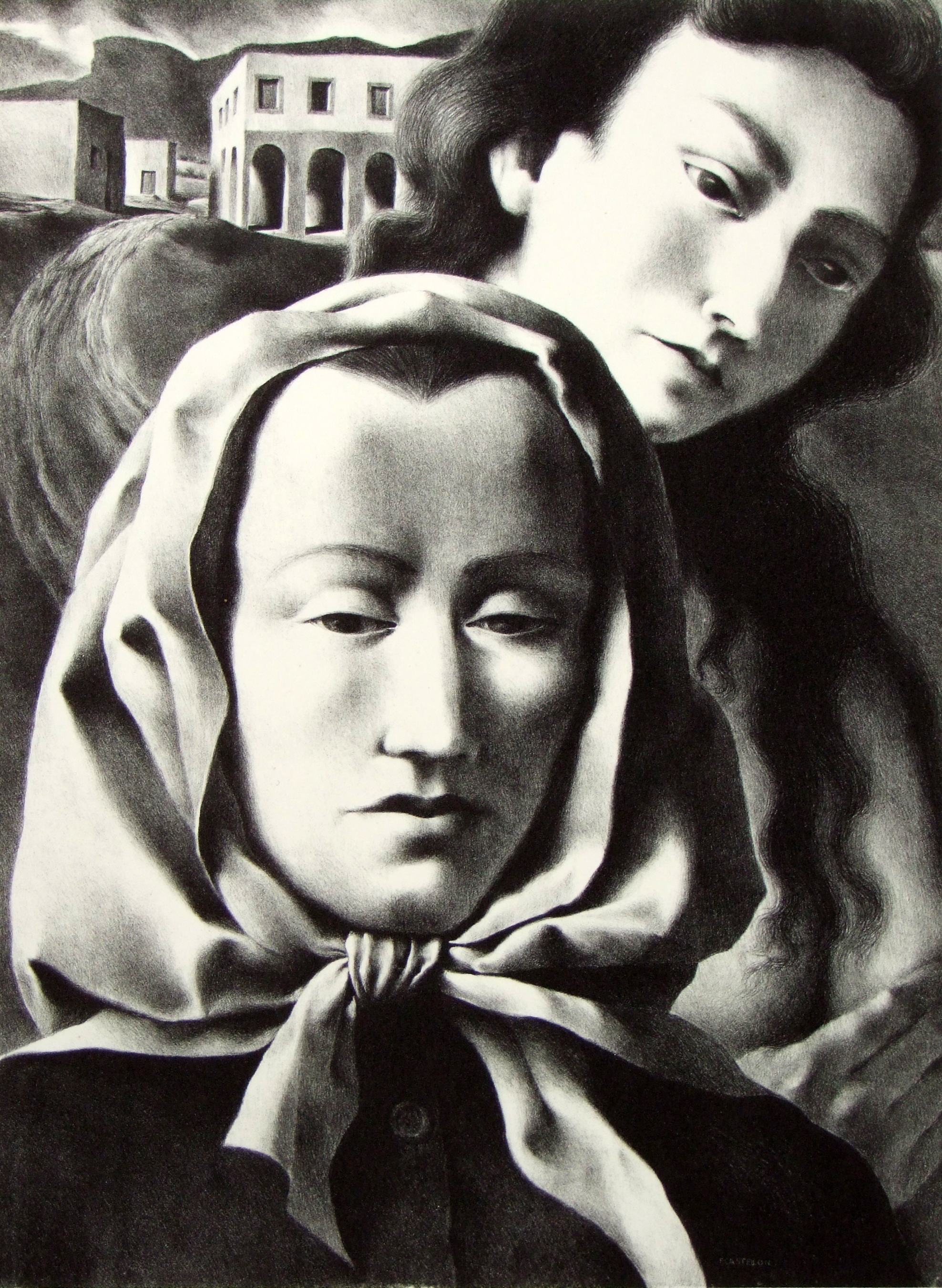 Federico Castillon | MEMORIES | lithograph on paper | 12-5/8 x 9-3/8"