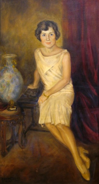 Gene Haris | HELEN (BOSART MORGAN WAGSTAFF) | oil on canvas | 42 x 23 | 1929
