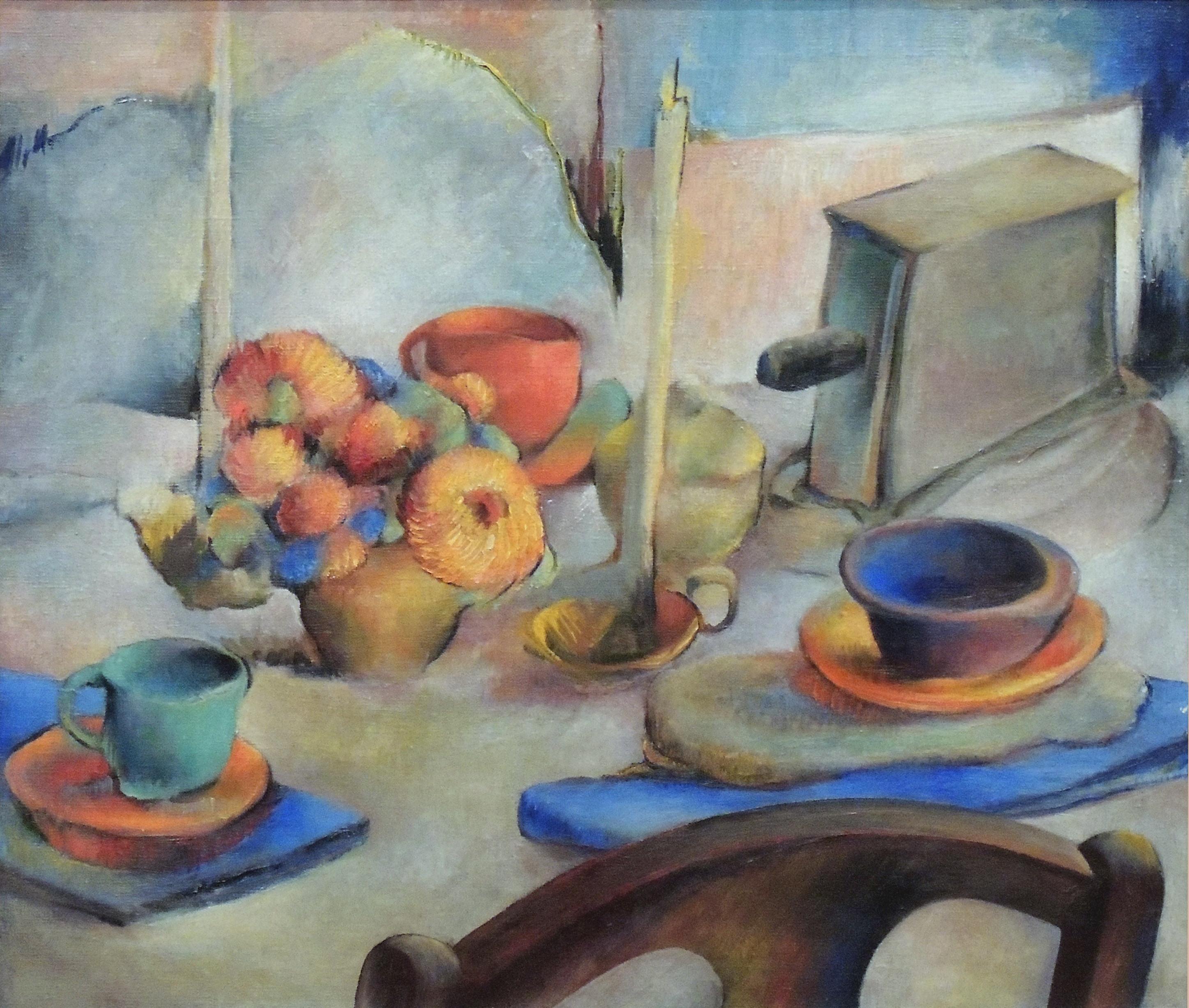 "1989.007 | Ralston Thompson | THE TABLE | oil on canvas | 24-1/8 x 28"" | 1935 | Gift of Mrs. Ralston Thompson"