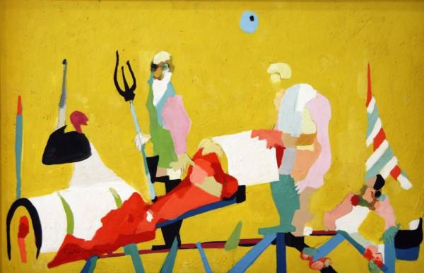 Ralston Thompson   APOTHEOSIS OF GEORGE BERNARD SHAW   oil on canvas board   20 x 30   1952
