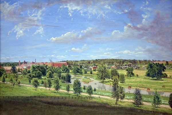 Gustavus Frankenstein | VIEW FROM MITCHELL HILL, LOOKING TOWARDS LAGONDA VILLAGE | oil on canvas | 19-1/2 x 28-1/2 | 1891