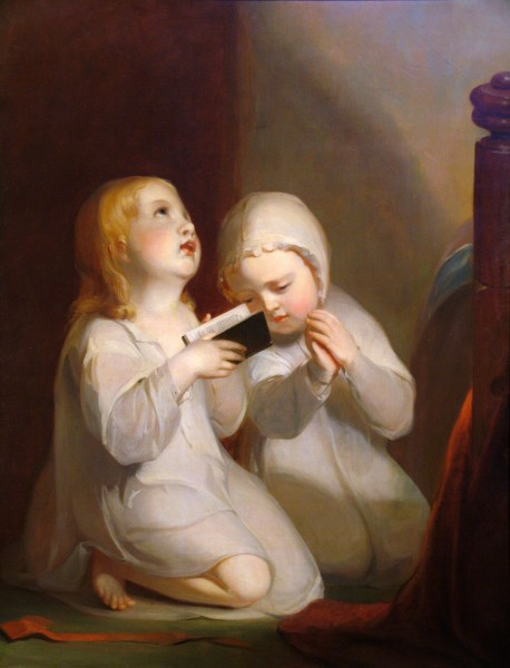 Thomas Sully | CHILDREN AT THEIR MORNING DEVOTIONS | oil on canvas | 36 x 27-3/4"