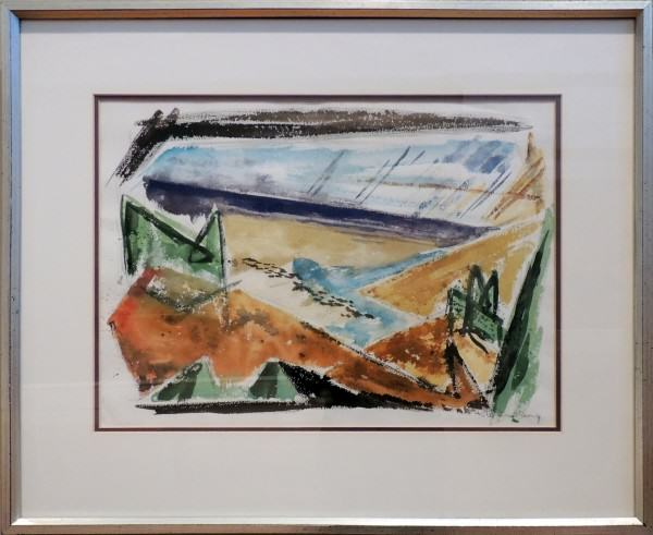 1996.014 | Robert W. Dunburg | LANDSCAPE | watercolor on paper | 15 x 21"