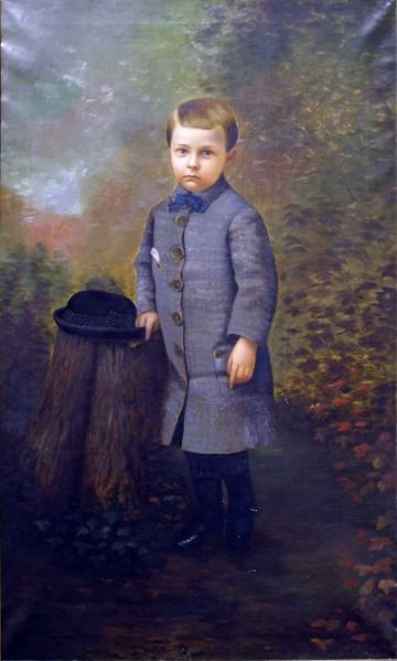 1999.004 | Silas Jerome Uhl | PORTRAIT OF ALBERT BARR | oil on canvas | 60 x 36"