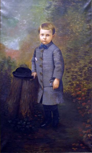 "1999.004 | Silas Jerome Uhl | PORTRAIT OF ALBERT BARR | oil on canvas | 60 x 36"" | c.1882 | Gift of Mr. Edward D. Jones III"
