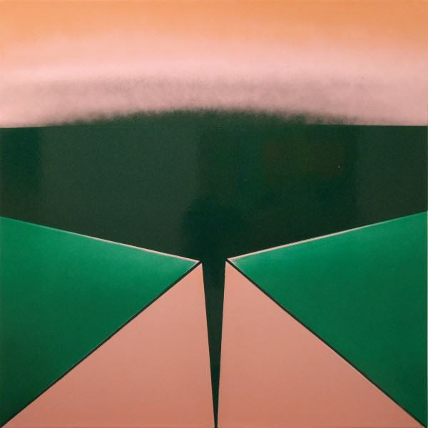 2000.023 | Angelo Ippolito | UNTITLED (GREEN) | acrylic lacquer on masonite panel |20 x 20"