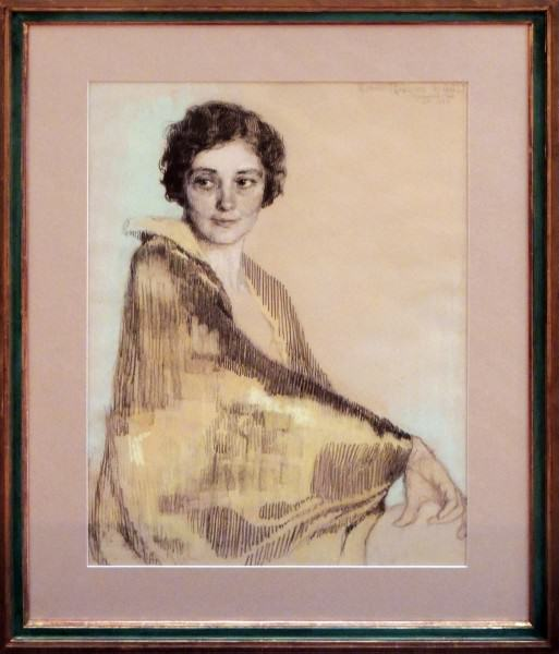 2003.010 | Alice Archer Sewell James | PORTRAIT OF LUCIE M. ROBBINS | pastel over pencil on paper | 29 x 21"
