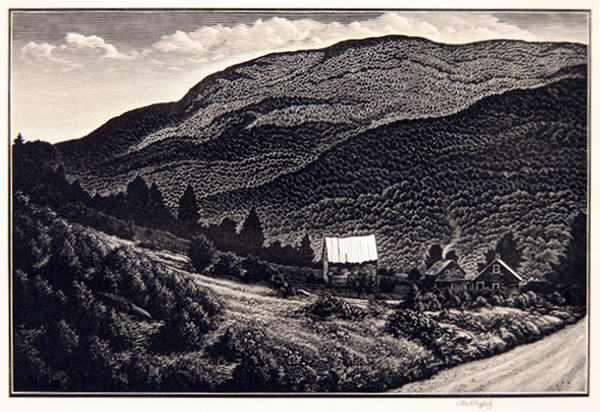 2005.005 | Asa Cheffetz | IN DEEP VERMONT | wood engraving | 6 x 8.875"