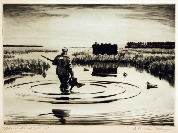 2005.005 | Churchill Ettinger | BLACK DUCK BLIND | Donated by Ms. Susan Wayne and Miss Leslie Wayne Loftus