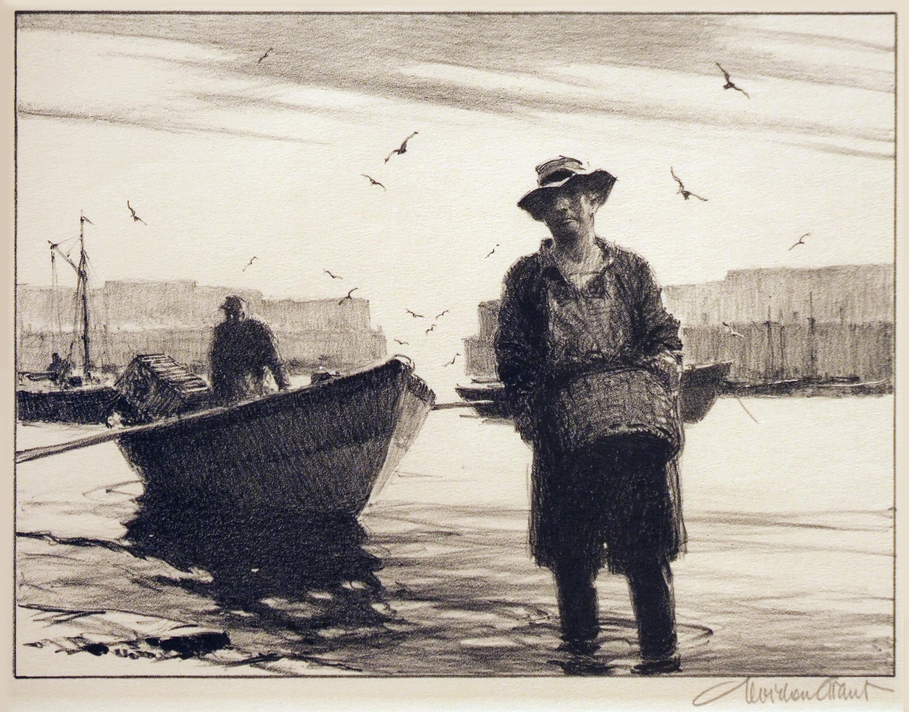 2005.005 | Gordon Grant | ANY LOBSTERS TODAY? | lithograph | 9 x 12"