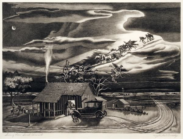 2005.005.64 | John McCrady | SWING LOW, SWEET CHARIOT | lithograph | 9-1/2 x 13-7/8"
