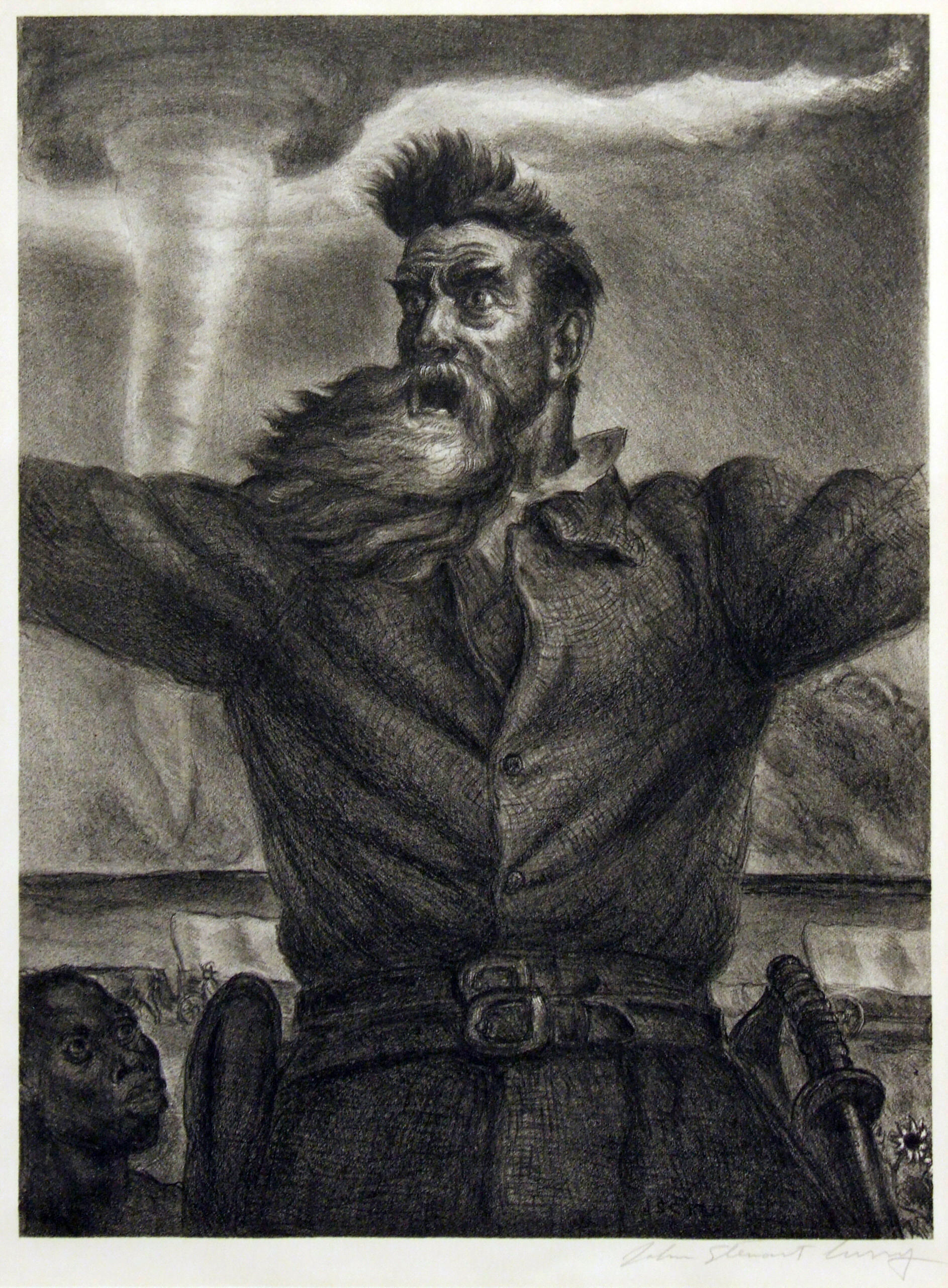 2005.005 | John Steuart Curry | JOHN BROWN | lithograph | 4-3/4 X 10-7/8"