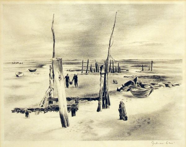 2005.005.51 | Julian Levi | LOW TIDE | lithograph | 8-1/2 x 11"