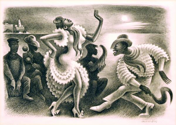 2005.005.16 | Miguel Covarrubias | RUMBA | lithograph | 9-1/4 x 13-1/2"