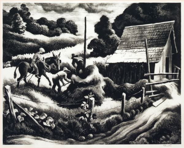 2005.005 | Thomas Hart Benton | HAYSTACK | Donated by Ms. Susan Wayne and Miss Leslie Wayne Loftus