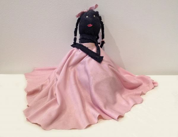 Mary Francis Merrill | PINK RIBBON DOLL | 10 x 6 x 4"