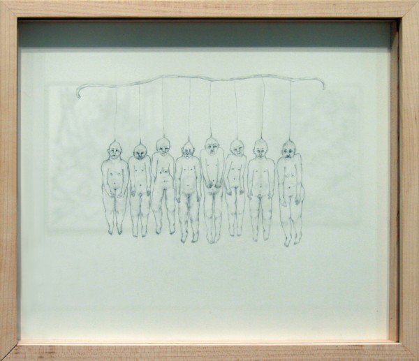 Clara Crockett | PUPPET SHOW, CAST I | graphite on Arches paper | 2011