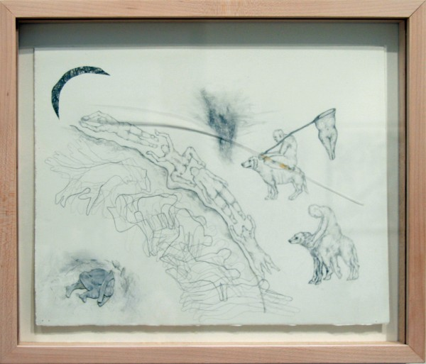 Clara Crockett | SWIMMING UPSTREAM | graphite on Arches paper | 2010