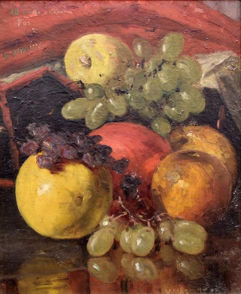 Silas Jerome Uhl | STILL LIFE WITH FRUIT | oil on canvas | 12 x 10"