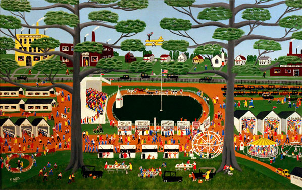 Paul Patton | THE MUSKINGUM COUNTY FAIR | c.1986 | acrylic on canvas