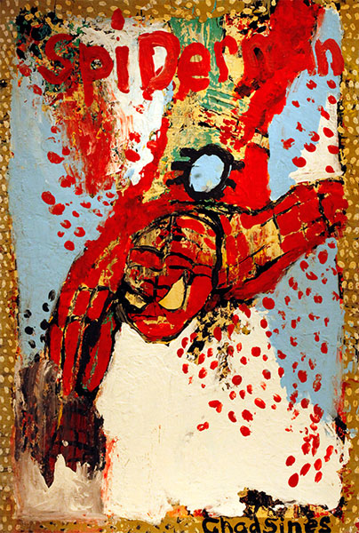 Chad Sines | SPIDERMAN | c.2010 | paint on wood