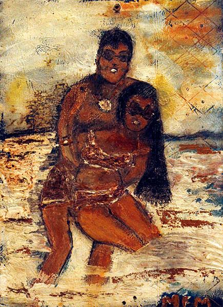 Mary Frances Merrilll | HONEYMOON | c.1980s-90s | paint on board