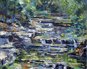 Marc Caren STREAM NEAR YELLOW SPRINGS-c2012-Oil on canvas