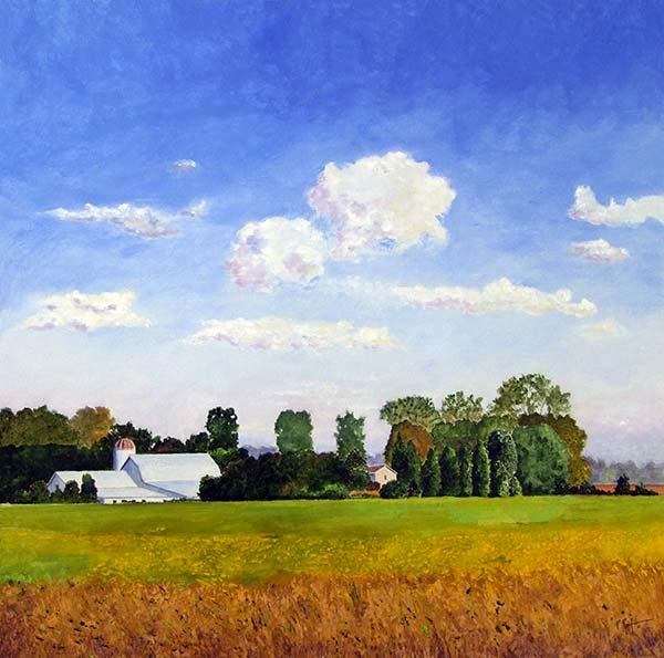 Paul Reif | UPPER VALLEY FARM | acrylic