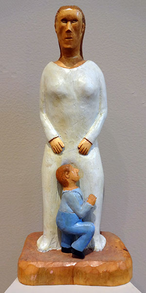Stephen Sabo | MOTHER AND SON | carved and painted wood