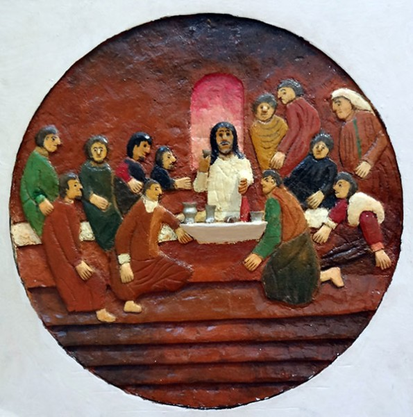 Stephen Sabo | THE LAST SUPPER | carved and painted wood