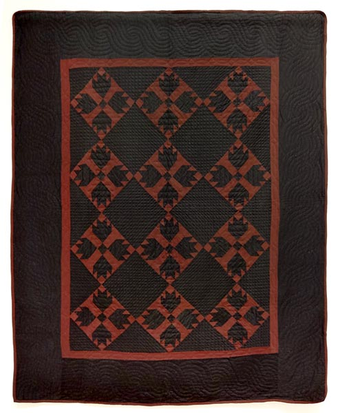 John Mast family | Amish, Holmes Co., OH | BEAR'S PAW QUILT | c.1915 | cotton and wool