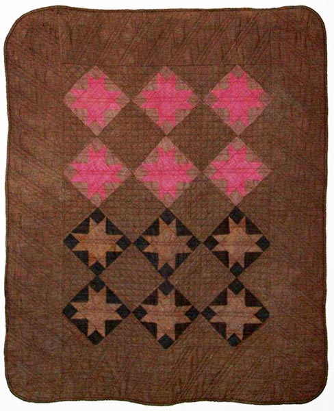 Amish, Ohio | VARIABLE STARS QUILT | c.1885-1900 | cotton chambray