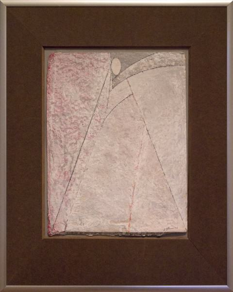 "Jack Osbun | STUDY FOR THE VIRGIN SERIES | oil paint and graphite on handmade paper | 12-1/2""x9-1/2"" 